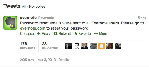 We just pushed out a password reset-Evernote